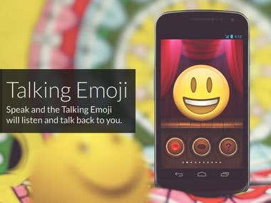 Talking Emoji iPhone & Android app