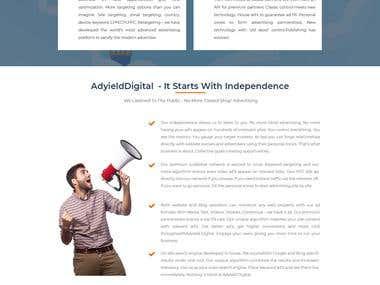 Adyield.com PSD Design, HTML, CSS, Bootstrap, Custom php dev