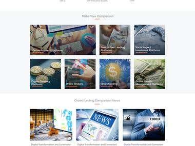 crowdfundingcomparison.eu PSD Design, HTML, CSS, Bootstrap,