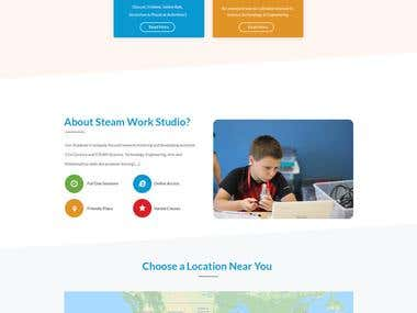 steamworksstudio.com PSD, PSD to WordPress