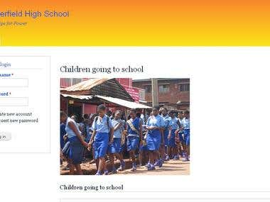 Complete School management site.