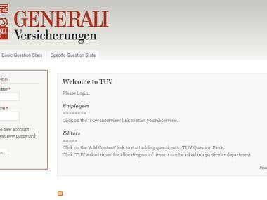 Site for custom use of organization - Generali (Germany)