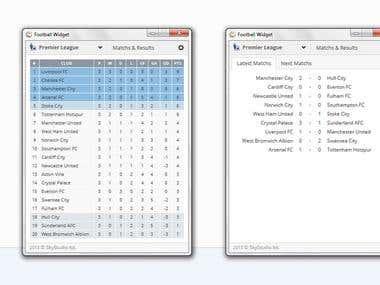 Football Widget v1.0