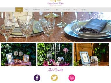 WordPress Portal for Events Services Portfolio