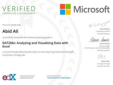 Data Analyzing and Visualization in Excel
