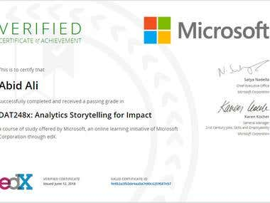Analytic Story Telling for Impact
