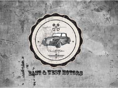 retro style logo design.