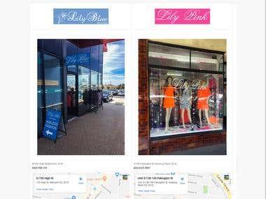 boutique business website