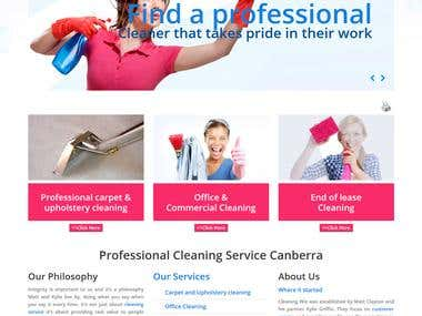 Cleaning related business website