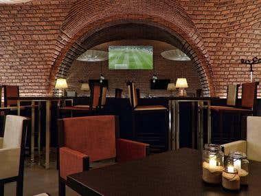 Interior design (pub&coffee-bar)