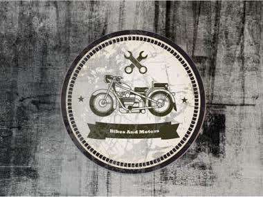 retro motor bike logo