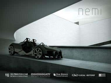 Nemi Bone 3D printed electric car