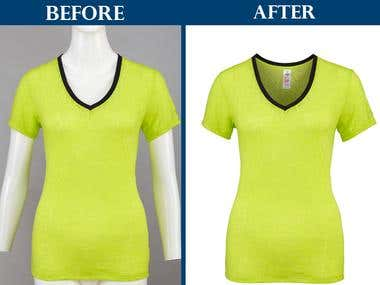 Photoshop Ghost Mannequin Service I Neck Joint Service