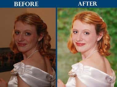 Wedding photography Retouching & Color Correction
