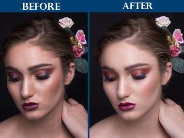 Retouching And Enhancements beauty images.