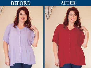 Color Correction or Recolor or Color Adjustment Service
