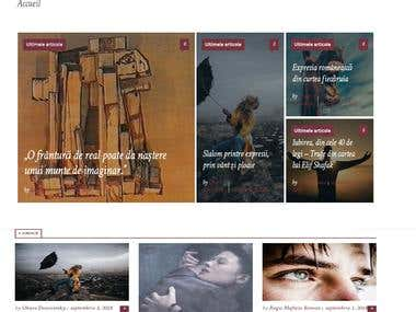 Wordpress Online magazine Website
