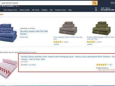 Amazon First Page First Position