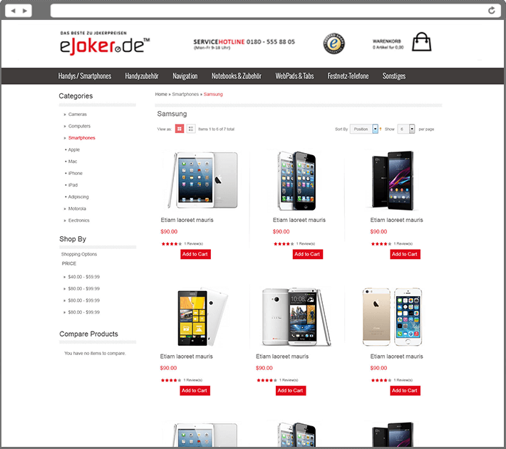 Online Phone Store