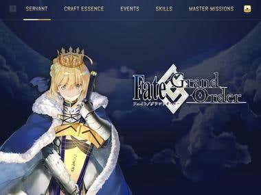 Website game landing page