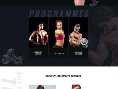 Gym website Designing