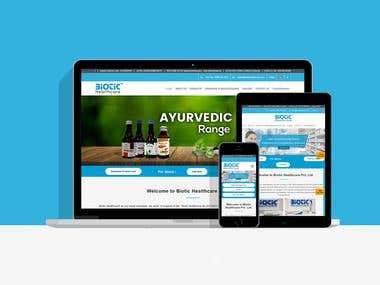 Pharma Company Website