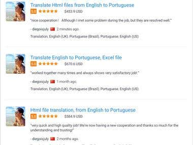 Translation Service English to Portuguese