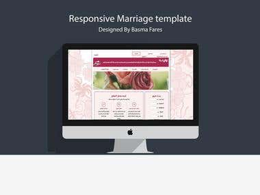 Marriage website template