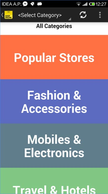Mobile application for Ecomerce