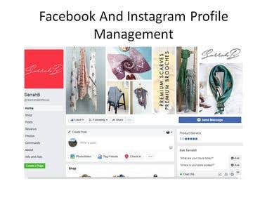 Facebook and Instagram Profile Optimization and Management