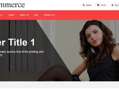 eCommerce Site Using Php Laravel Framework