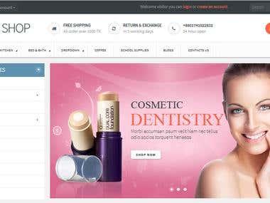 eCommerce Shop Using Open cart