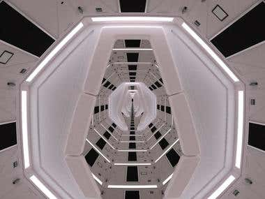 2001: A Space Odyssey´s original 3d replica for musical vid