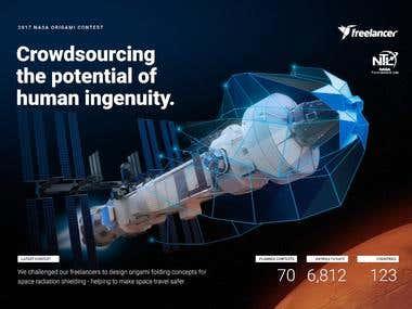 Spaceship Ad for NASA Contest - Client: Freelancer.com