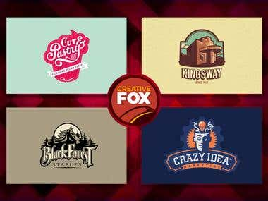 Creative Fox logo Designs