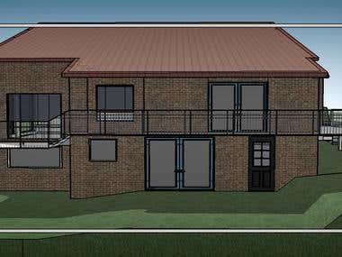 House Modeling Via Sketch up