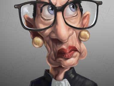 Caricature of Ruth Bader Ginsburg