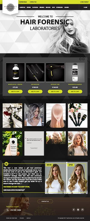 E-commerce: http://www.hairforensic.com/