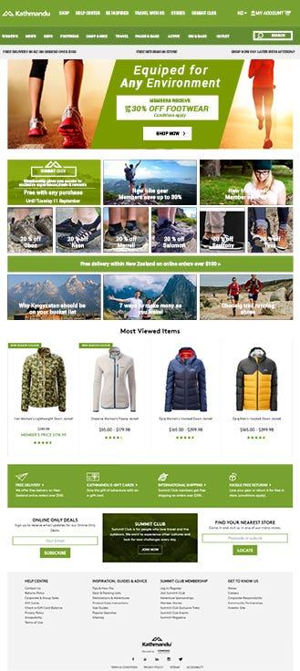 E-commerce: http://www.kathmandu.co.nz/