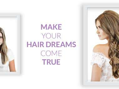 BANNER FOR A HAIR EXTENSION WEBSITE!
