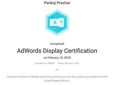 Google Display Certificate