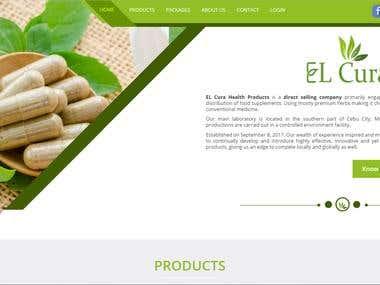 EL Cura Health Products Website