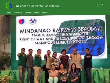 Galerio Environmental Consultancy Website