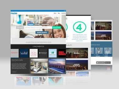 a front design based website