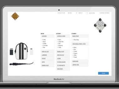 a bag customization website