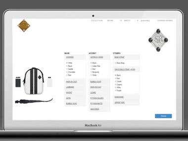 a bag customization website