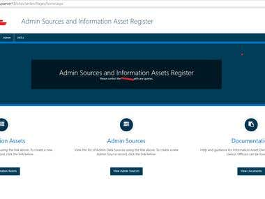 Admin Source Information Asset Portal - Sharepoint 2013
