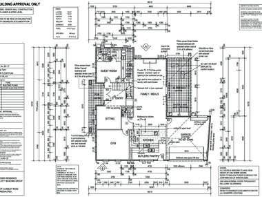 double storey house cad drawing