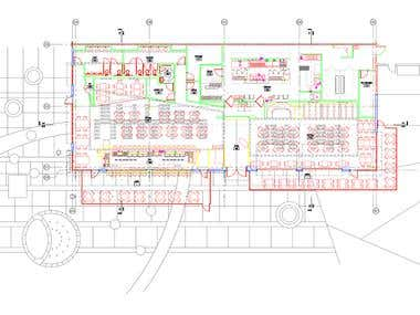 interior restaurant cad drawing