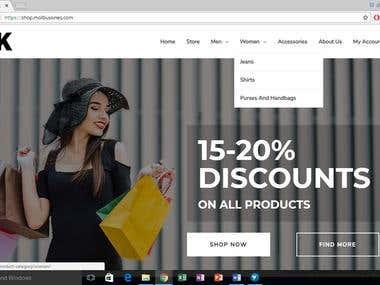 eCommerce WordPress - Live DEMO